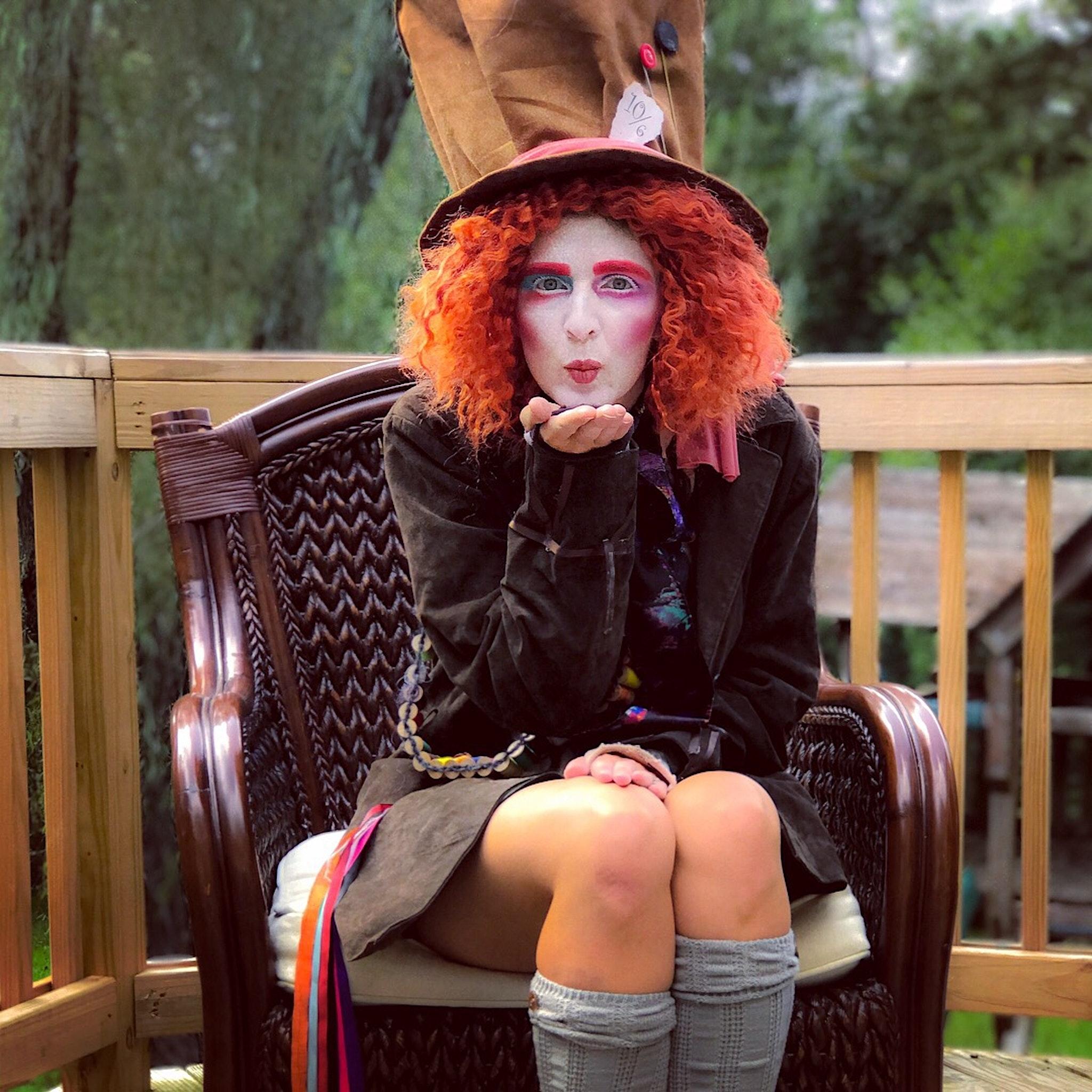 Mad Hatter Halloween Makeup