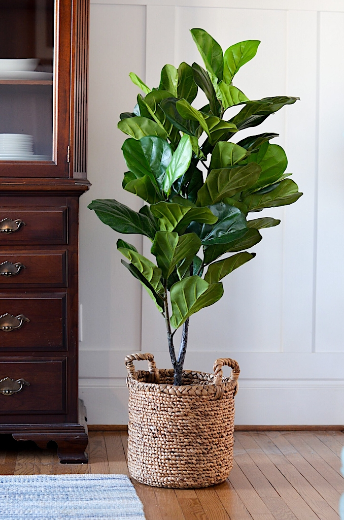 michaels, fake tree, artificial tree, fiddle leaf ficus, decor, decorating