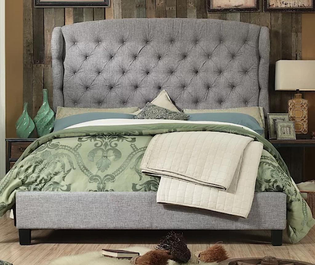 King Size Upholstered Beds Master Bedroom Makeover