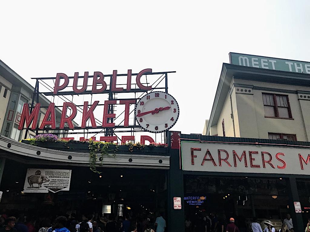 Seattle with Kids - Public Market in Downtown Seattle