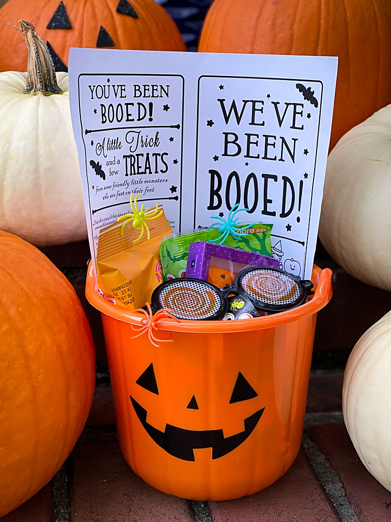 you've been booed sign