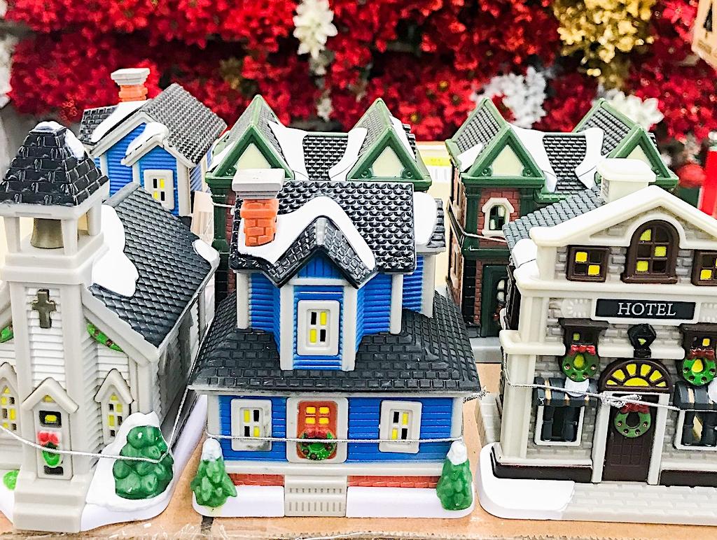 Dollar Store Christmas Village Houses