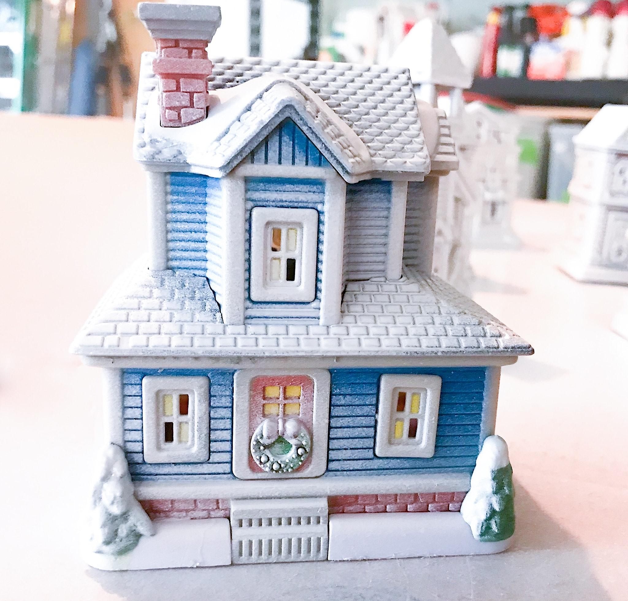 Dollar Store Christmas Village House