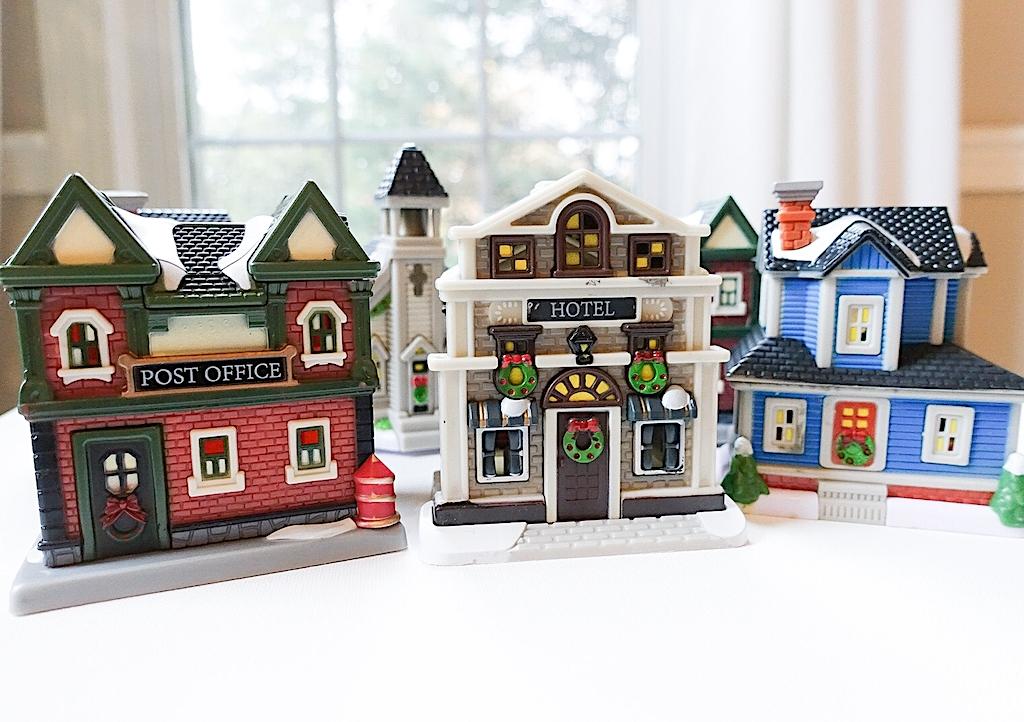 Dollar Store Christmas Village Houses - Dollar Tree