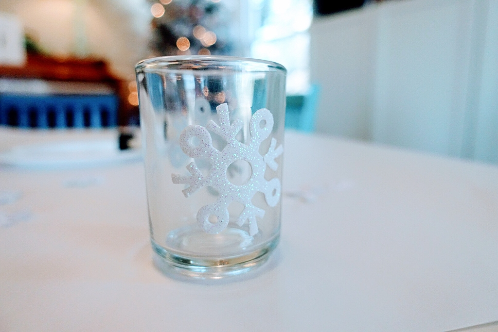 DIY Etched Votive Candle Holders Using Foam Stickers
