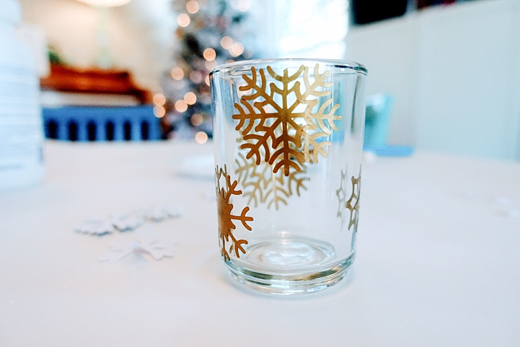 DIY Etched Votive Candle Holders Using Vinyl Decals