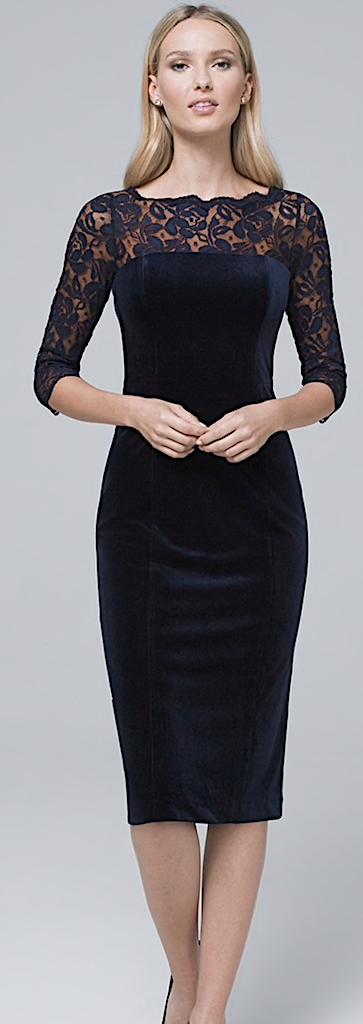 Holiday Style - Navy WHBM Velvet Dress