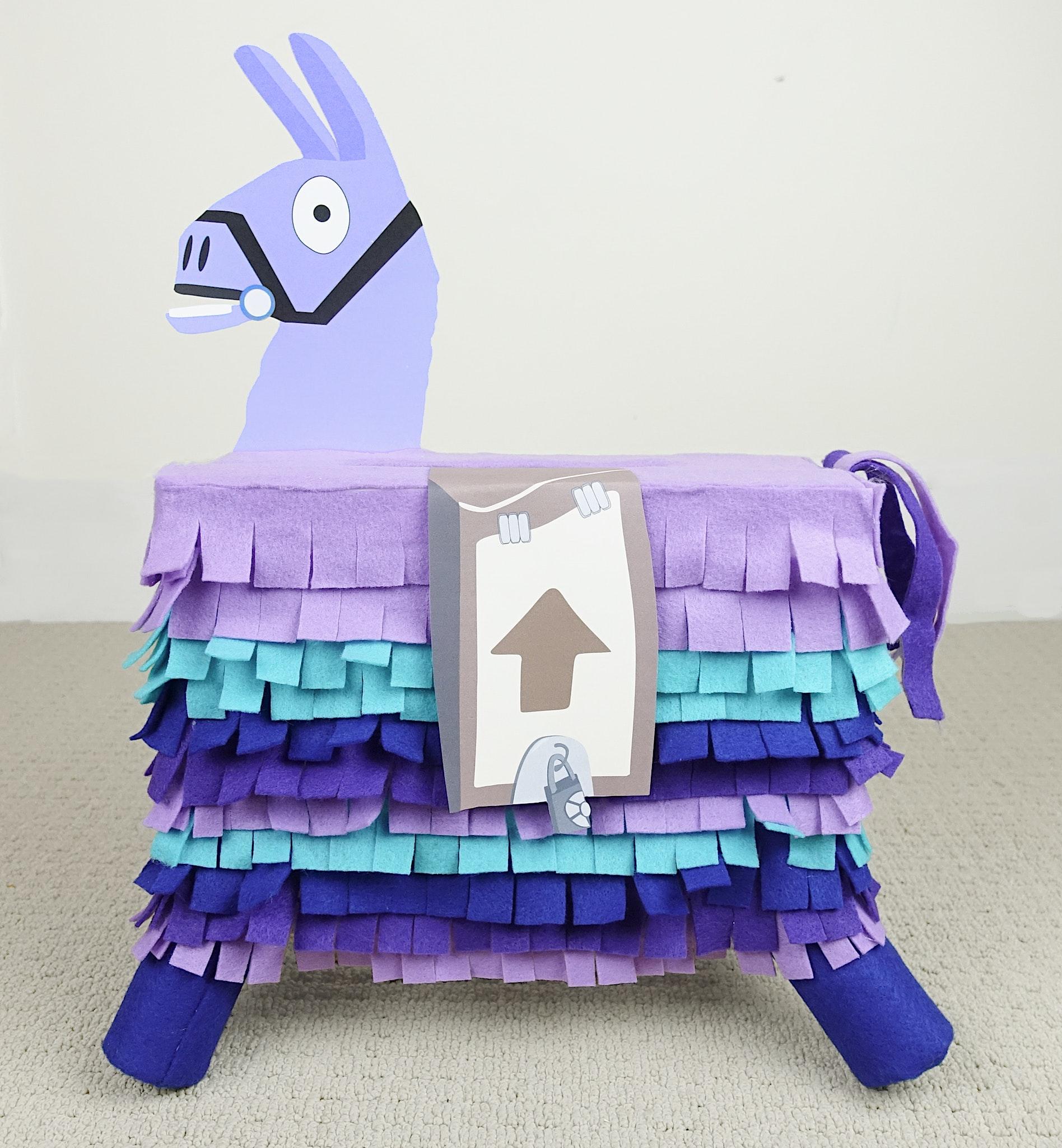 DIY Fortnite Llama Valentine's Day Mailbox