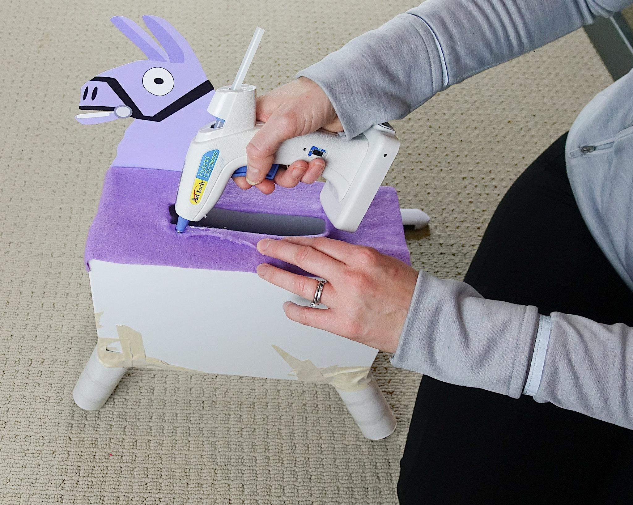 DIY Fotnite Llama Valentine's Day Mailbox
