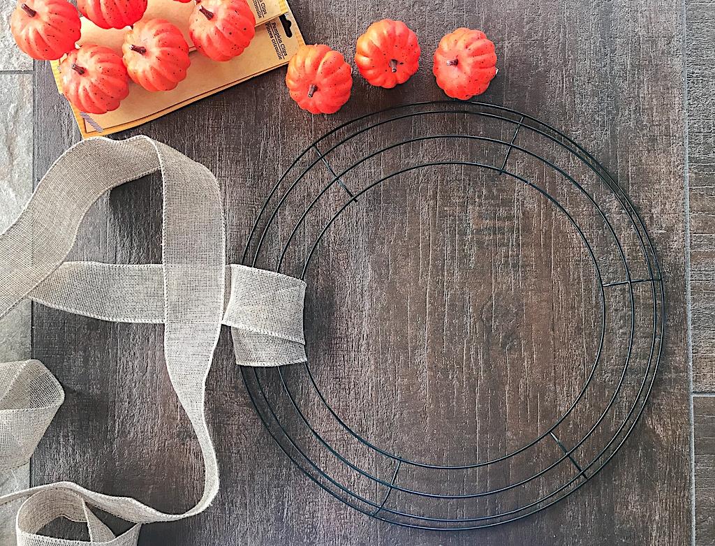 Dollar Store Halloween Crafts Pumpkin Burlap Wreath