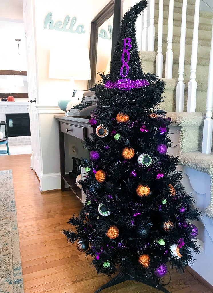 Halloween Tree With Dollar Store Decorations South Lumina Style