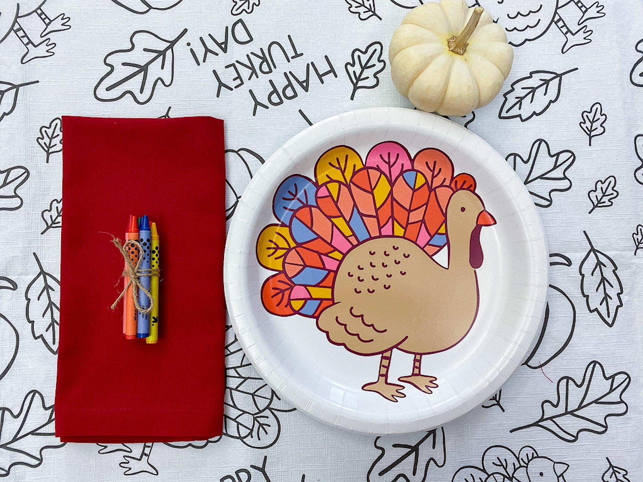 kids table Thanksgiving