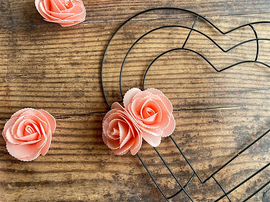 dollar store valentine wreath