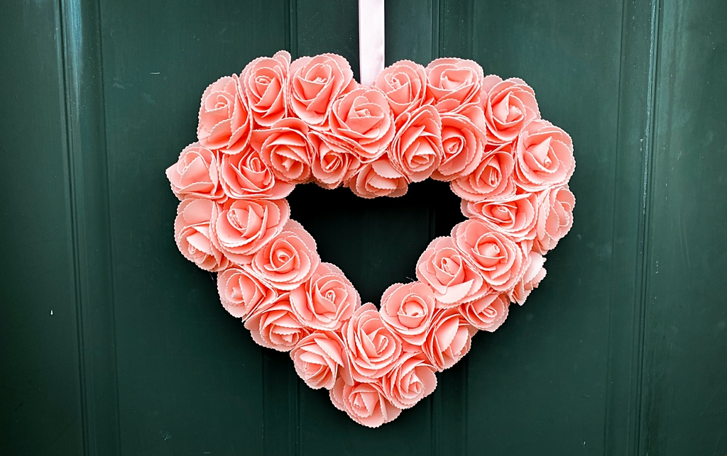 valentine's day hear wreath