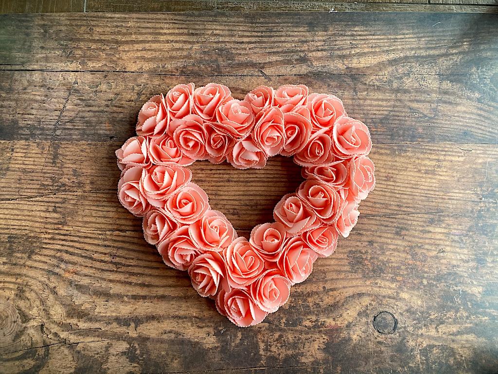 dollar store rose wreath