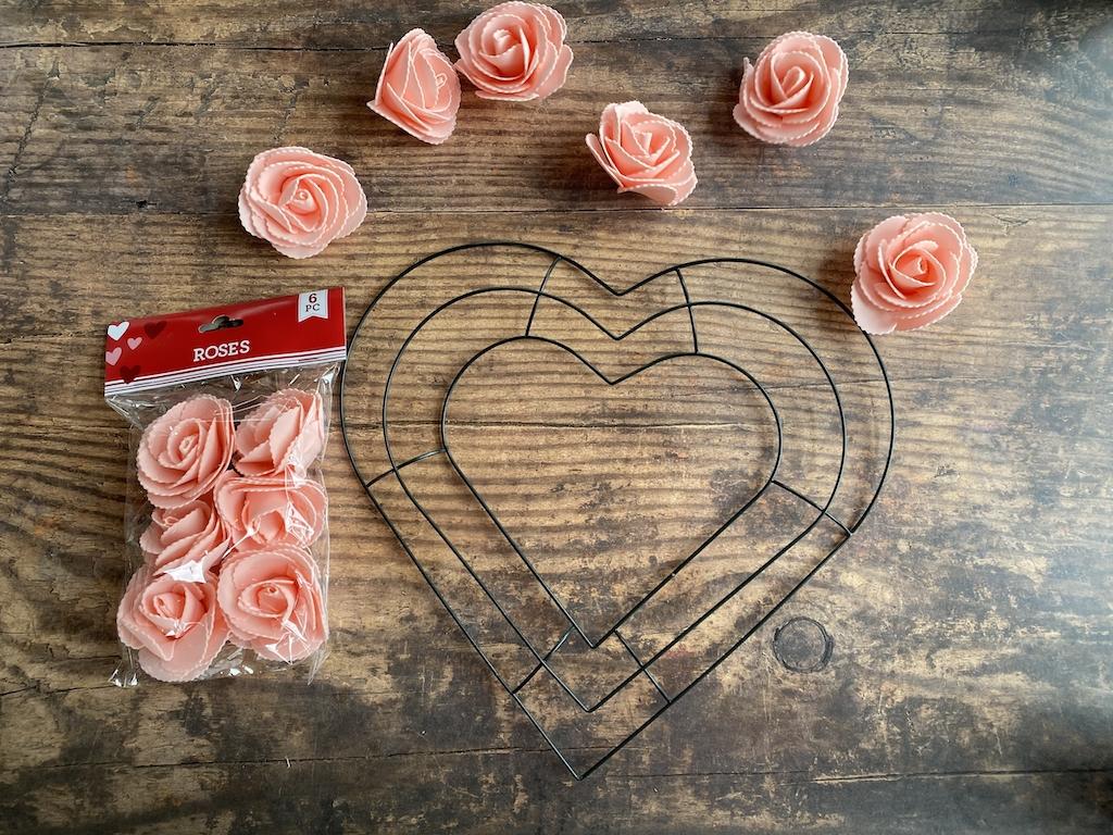 Dollar Store Valentine's Day Wreath
