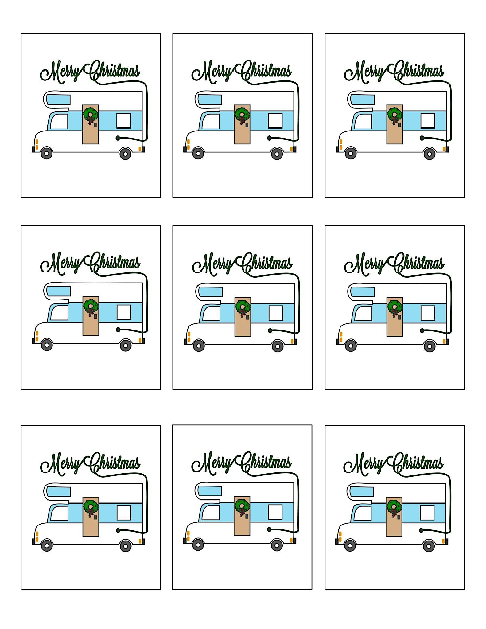 Christmas Vacation Printable Gift tags Uncle Eddie RV ...