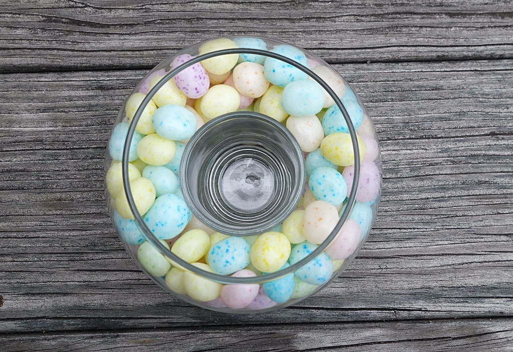 jellybean easter vase
