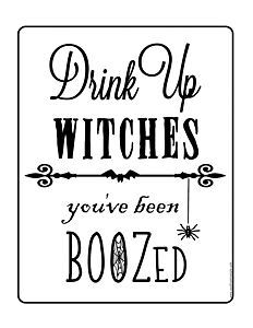 Drink Up Witches You've been boozed printable