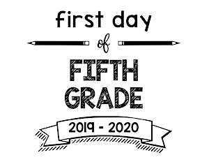 thumbnail of First Day of Fifth Grade 2019 – 2020