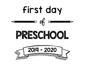 thumbnail of First Day of Preschool 2019 – 2020