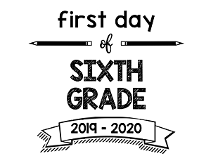 thumbnail of First Day of Sixth Grade 2019 – 2020