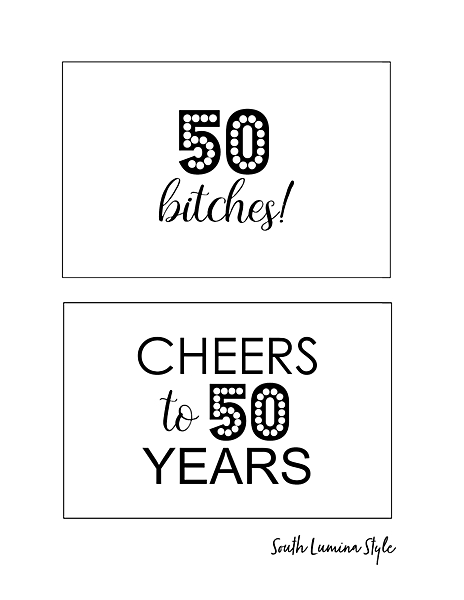 thumbnail of South Lumina Style DIY Printable 50th Birthday Signs cheers to 50 years