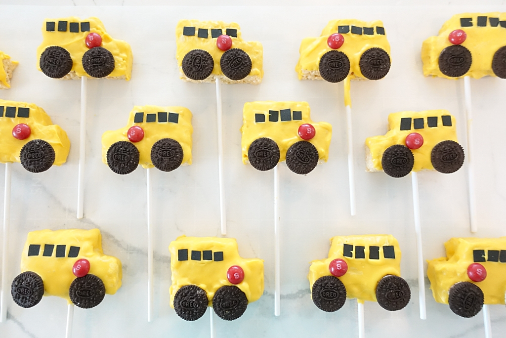 South Lumina Style School Bus Rice Krispie Treats