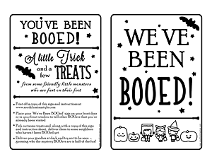 You've Been BOOed Free Printable - South Lumina Style