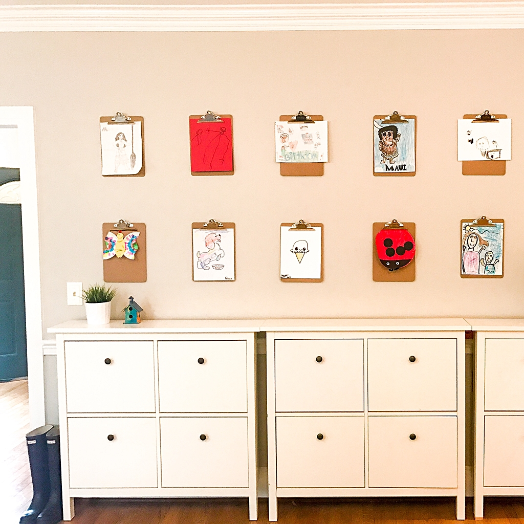 How to Display Your Kids' Artwork In Your Home