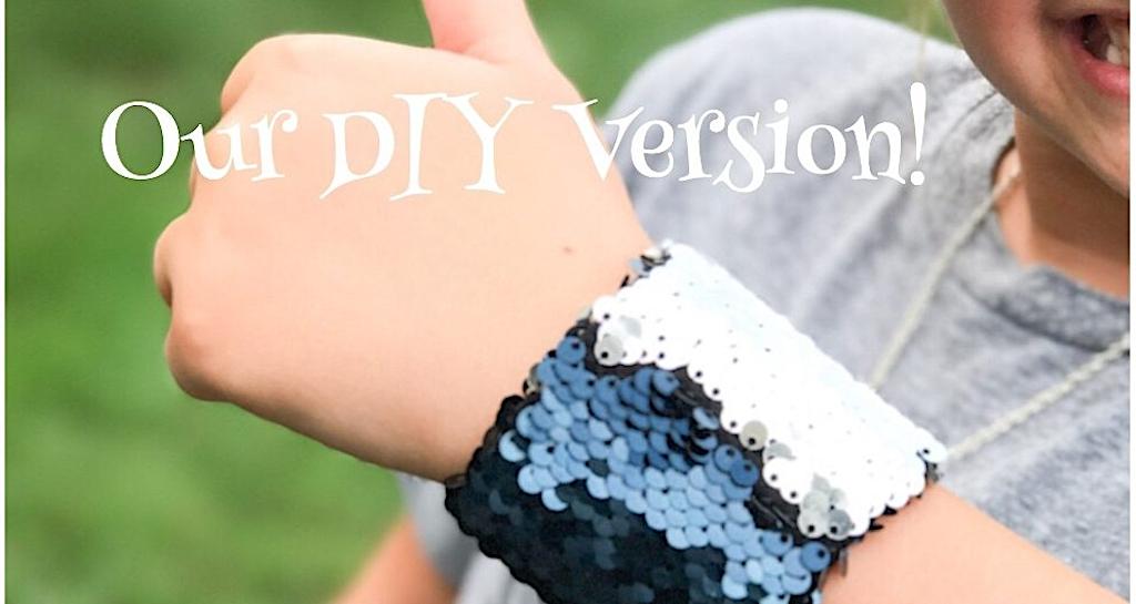How To Make A DIY Mermaid Sequin Bracelet