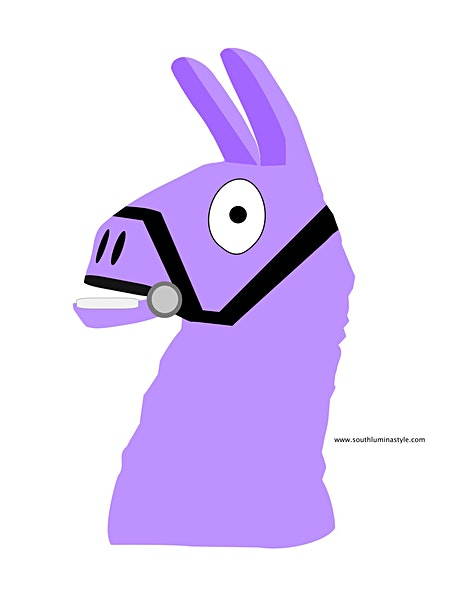 thumbnail of llama head left