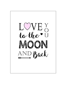 thumbnail of love you to the moon and back 5×7
