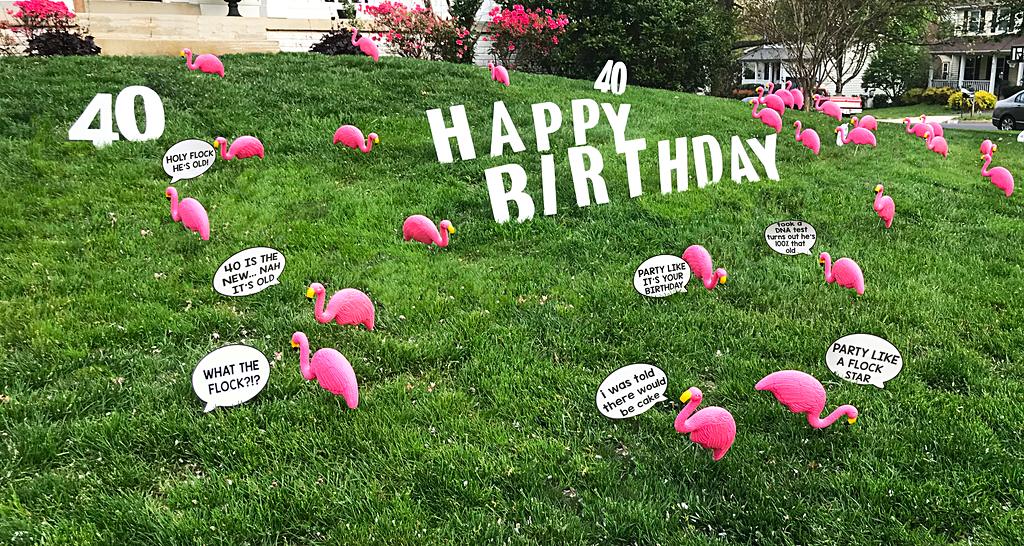 DIY Birthday Yard Signs