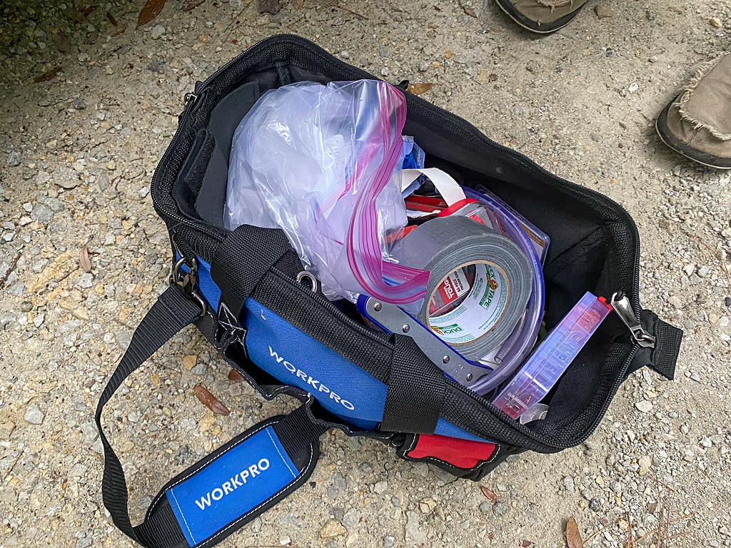 what we bought for rv toolbag