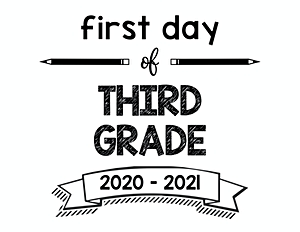 thumbnail of First Day of Third Grade 2020 – 2021