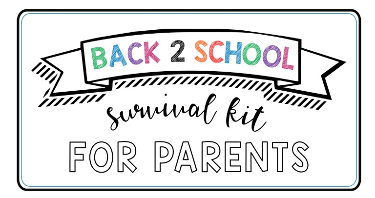 back to school survival kit for parents