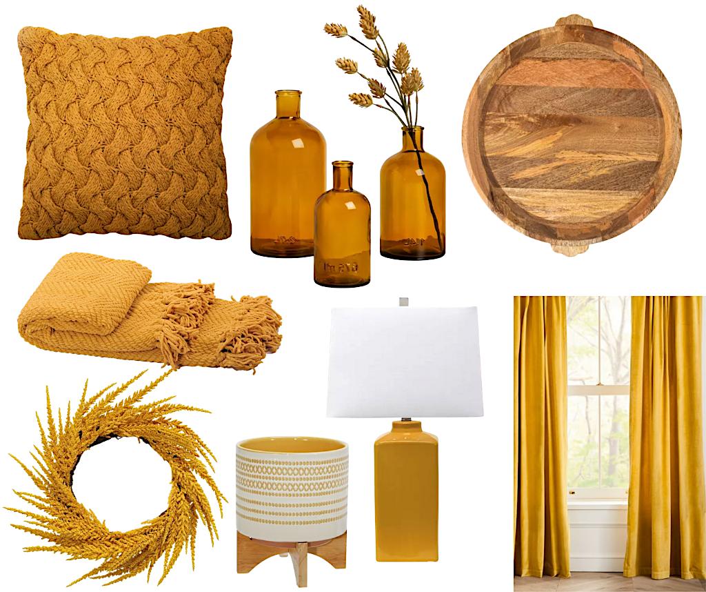 fall design trends mustard yellow