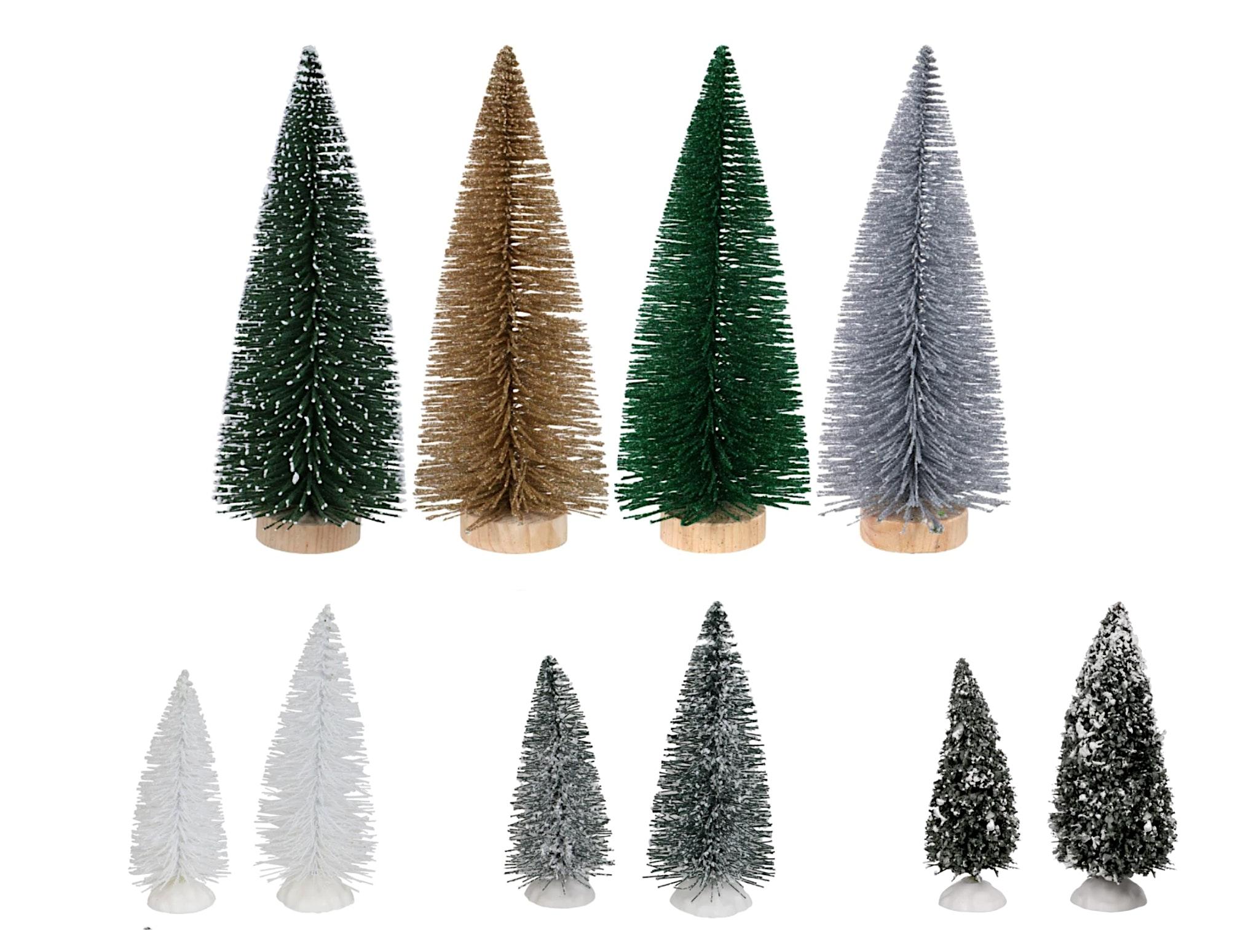 dollar store bottle brush trees