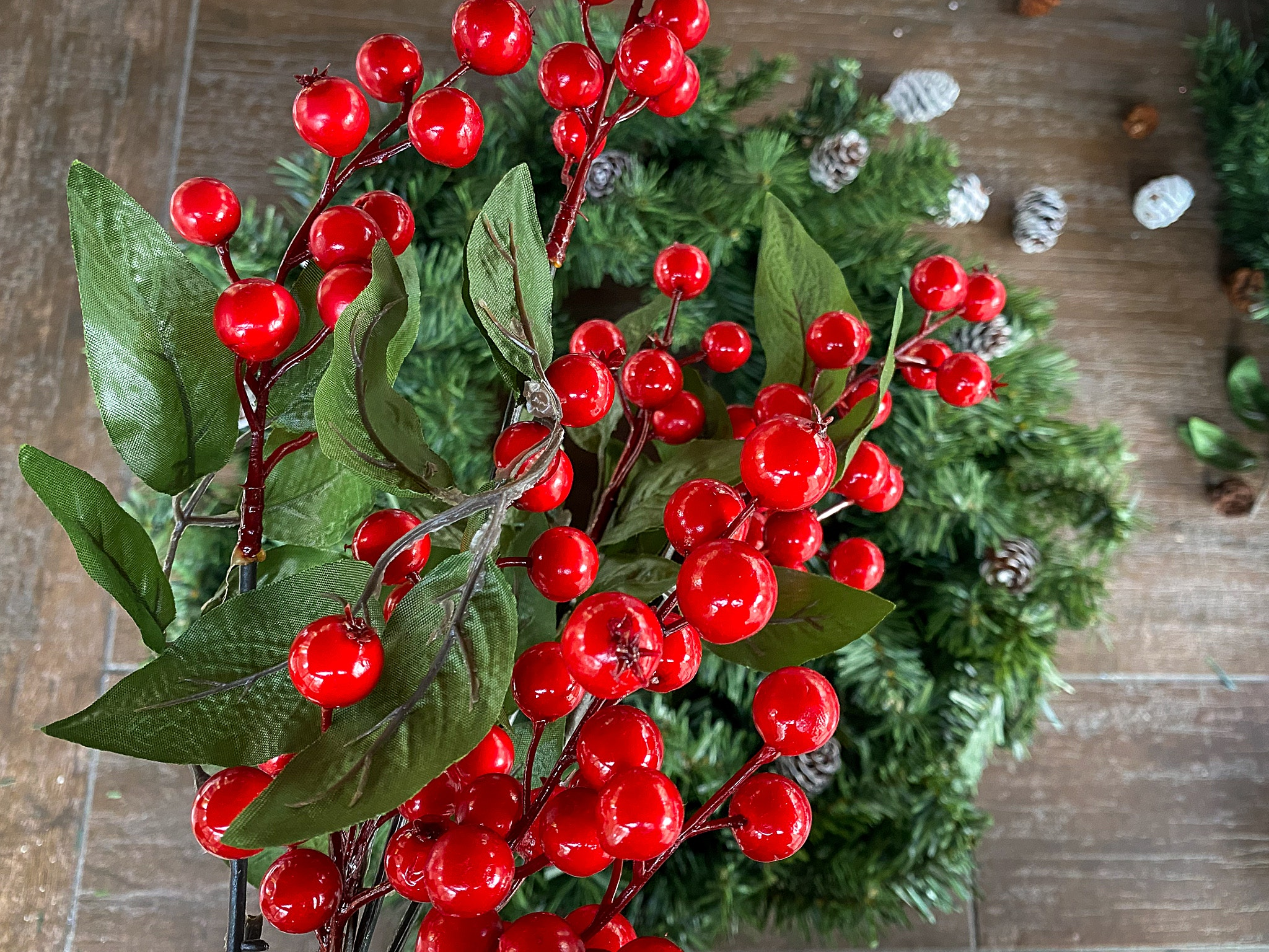 berries for christmas wreath