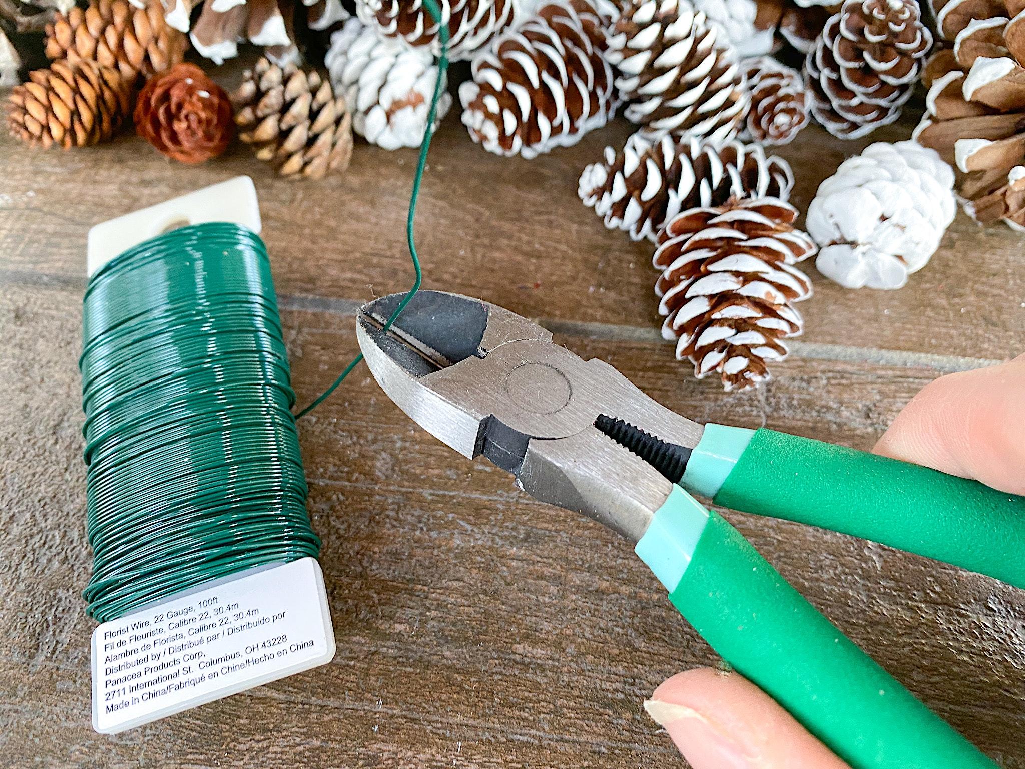 how to make pinecone wreath picks
