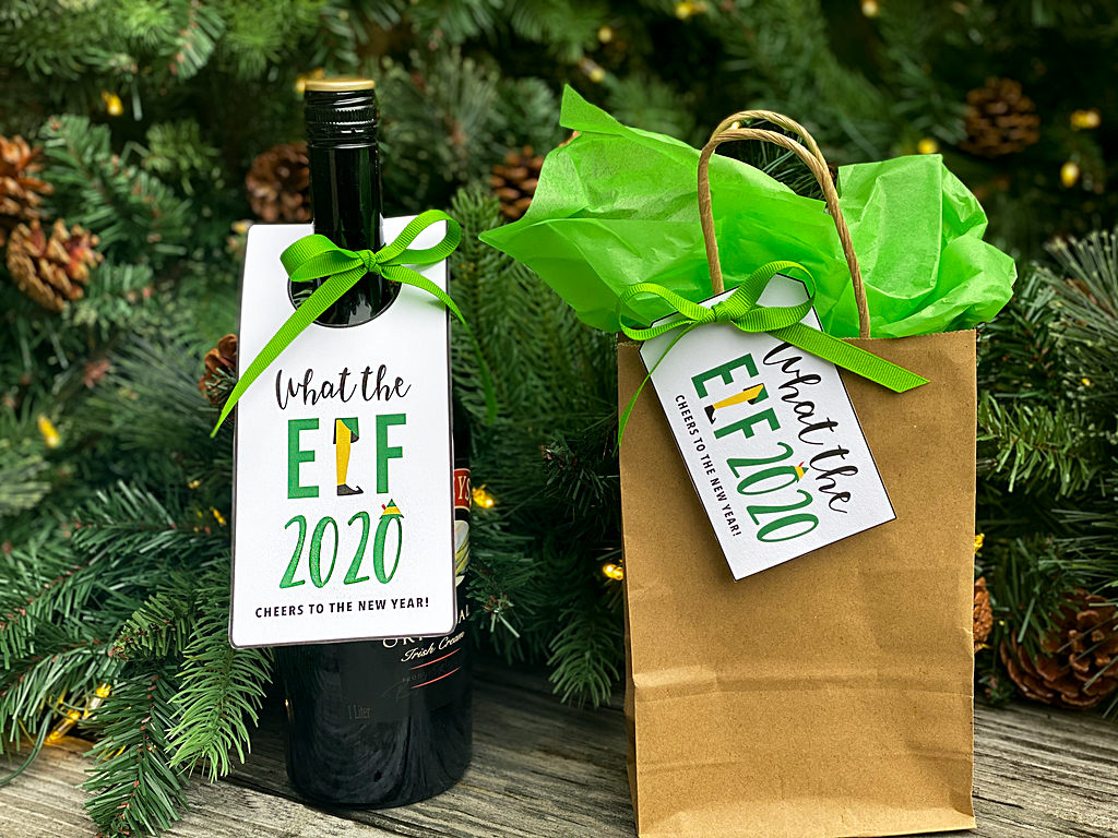 youve been elfed printable tags what the elf 2020