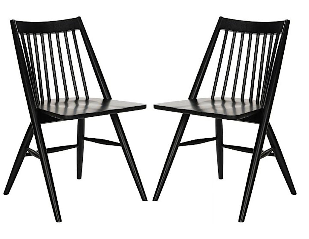 black modern farmhouse chairs
