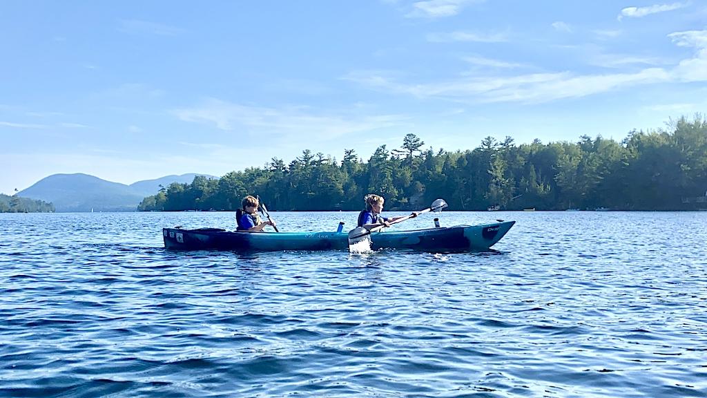 Kayaking Long Pond Acadia National Park Maine